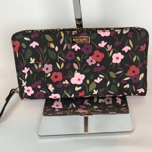 Kate Spade Laurel Way Boho Floral ZipAround Wallet